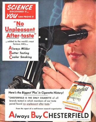 Essa marca de cigarro seria incapaz de deixar mal hálito na boca do consumidor segundo uma pesquisa PSEUDOCIENTIFICA, em outras palavras  FARSA!